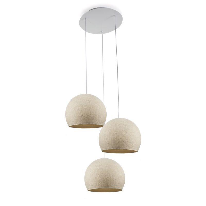 Plafondbevestiging 3 koepellamp S ecru - Plafondbevestiging 3 - La Case de Cousin Paul