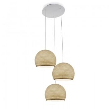 Lámpara de techo 3 cúpulas S crudo - Lámpara de techo 3 - La Case de Cousin Paul