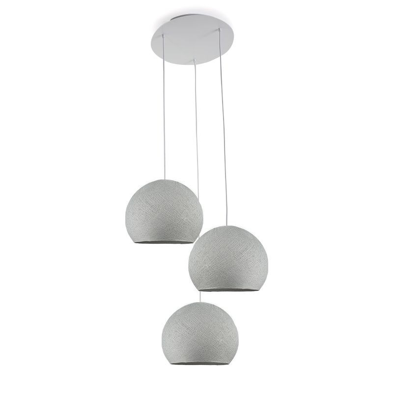 Plafonnier 3 coupoles S gris perle - Plafonnier 3 - La Case de Cousin Paul