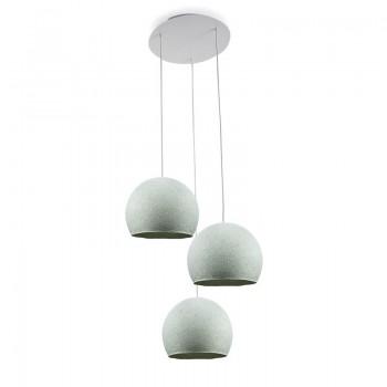 Ceiling fixture 3 azure cupolas S - Plafonnier 3 - La Case de Cousin Paul