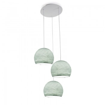 Plafondbevestiging 3 koepellamp S azuurblauw - Plafonbevestiging 3 - La Case de Cousin Paul