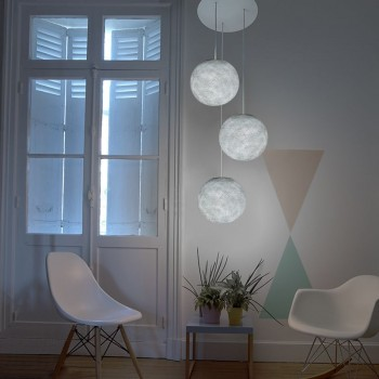 Lámpara de techo 3 globos S gris perla - Plafonnier 3 - La Case de Cousin Paul