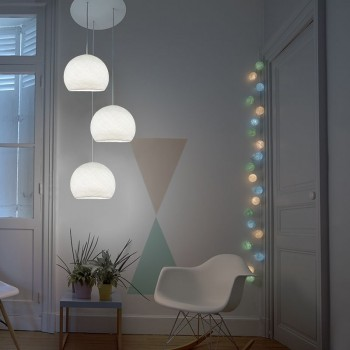 Plafondbevestiging 3 koepellamp S wit - Plafonnier 3 - La Case de Cousin Paul
