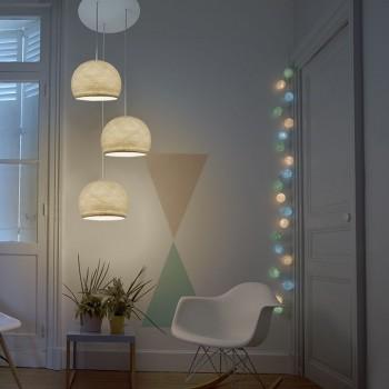 Plafondbevestiging 3 koepellamp S ecru - Plafonnier 3 - La Case de Cousin Paul
