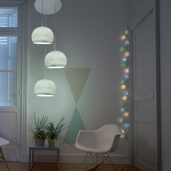 Plafondbevestiging 3 koepellamp S azuurblauw - Plafonnier 3 - La Case de Cousin Paul