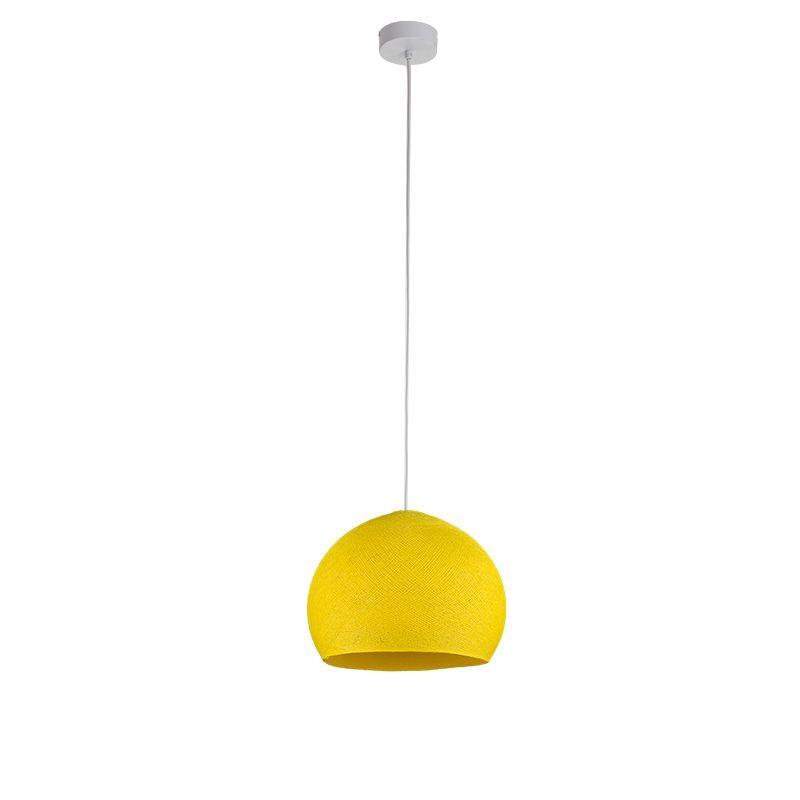 Einfache Aufhängung Kuppel S gelb - Einfache Hängelampe - La Case de Cousin Paul