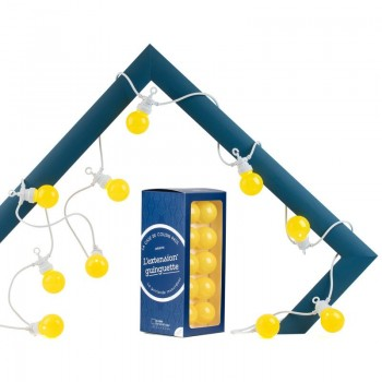 Extension Guinguette Citron white cord - Guinguette gift boxes  - La Case de Cousin Paul