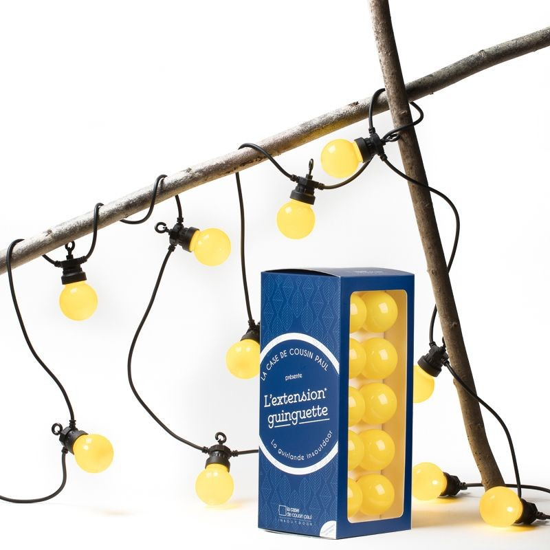 extension guirlande LED guinguette Citron