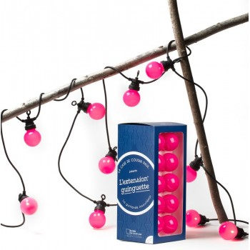 extension guirlande LED guinguette Rose