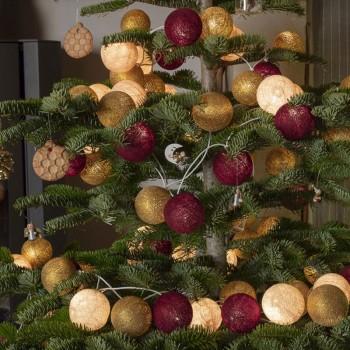 """150 boules - 3 Guirlandes """"Carillon"""" - Décoration de noël - La Case de Cousin Paul"""