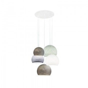 Plafoniera 5 cupole antracite-bianco-tortora-antracite-grigio perla - Plafonnier 5 - La Case de Cousin Paul