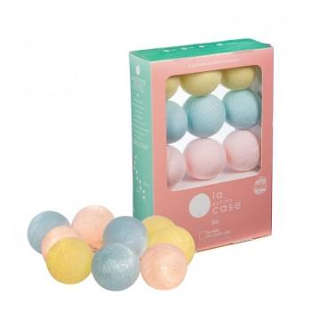 9 balls Céleste - Coffrets Guirlande veilleuse bébé - La Case de Cousin Paul