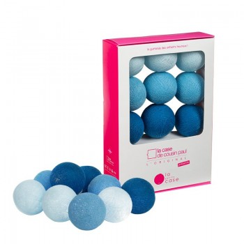9 balls with batteries Lucien - Coffrets Guirlande veilleuse bébé - La Case de Cousin Paul