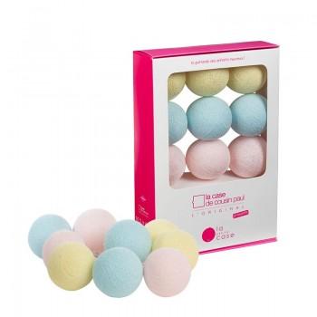 9 balls with batteries Céleste - La petite case - La Case de Cousin Paul