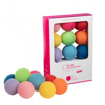 Coffret 9 boules à piles Oscar - Coffrets Guirlande veilleuse bébé - La Case de Cousin Paul