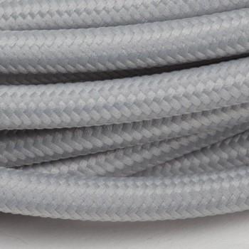 suspension nomade fil tissé gris perle