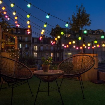 Romantic multicolored Guinguette - Outdoor gift boxes  - La Case de Cousin Paul