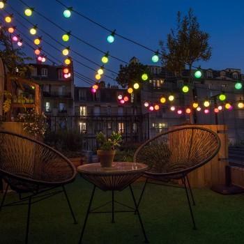 Uitbreiding Veelkleurige romantische Guinguette - Outdoor sets - La Case de Cousin Paul