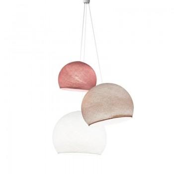 Lampadario cupole rosa antico-confetto-bianco - Lampadario triplo - La Case de Cousin Paul