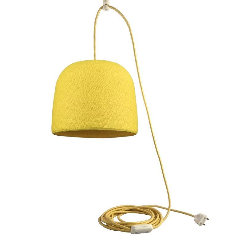 Mobiel ophangsysteem Cloche geel - Suspension nomade - La Case de Cousin Paul