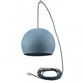 Mobiel ophangsysteem Koepellamp S denim - Suspension nomade - La Case de Cousin Paul
