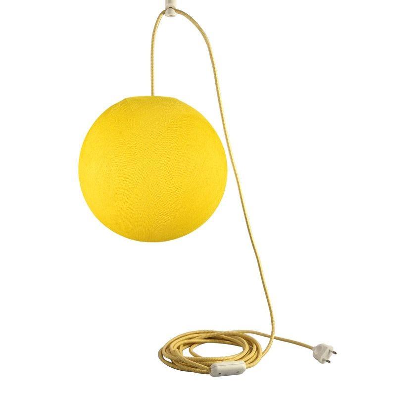 Suspension nomade globe S jaune - Suspension nomade - La Case de Cousin Paul