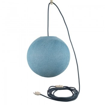 Suspension nomade globe S denim - Suspension nomade - La Case de Cousin Paul