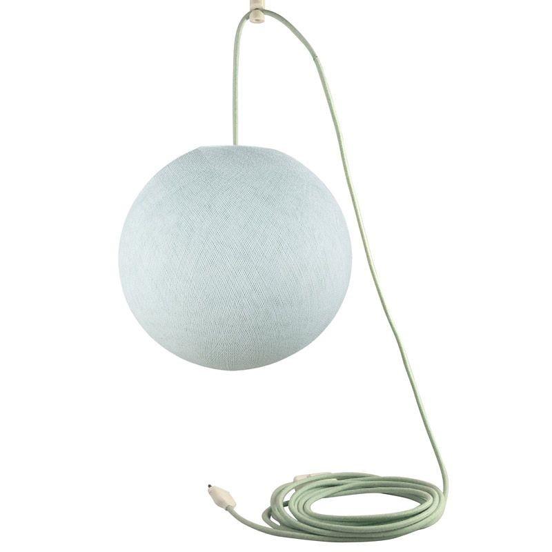 Attacco a sospensione mobile a una sfera S azzurro - Suspension nomade - La Case de Cousin Paul