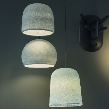 Lámpara de techo 3 azul - Plafonnier 3 - La Case de Cousin Paul