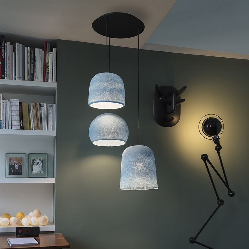 Lámpara de techo 3 vaquera - Plafonnier 3 - La Case de Cousin Paul