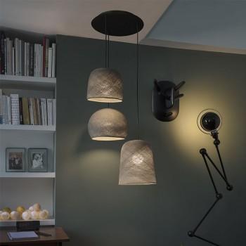 Lámpara de techo 3 grafito - Plafonnier 3 - La Case de Cousin Paul