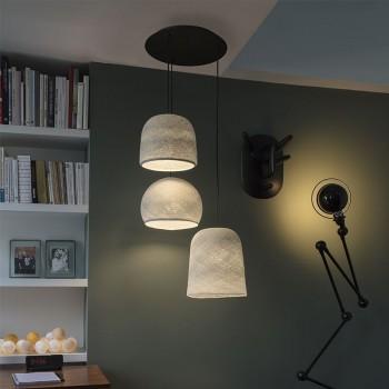 Lámpara de techo 3 gris perla - Plafonnier 3 - La Case de Cousin Paul