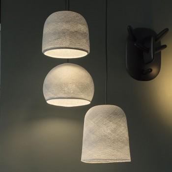 Plafonnier anthracite 3 abats-jours gris perle