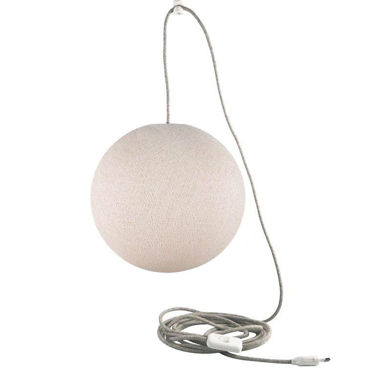 Attacco a sospensione mobile a una sfera S lino - Suspension nomade - La Case de Cousin Paul