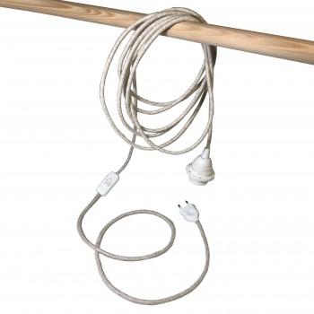 Mobile hanging fixture sugared almond S linen - Mobile Light fixture - La Case de Cousin Paul