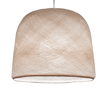Mobile hanging fixture linen Cloche - Mobile Light fixture - La Case de Cousin Paul