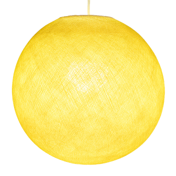 Mobile hanging fixture yellow S ball - Mobile Light fixture - La Case de Cousin Paul