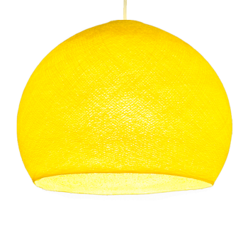Mobile hanging fixture yellow S linen - Mobile Light fixture - La Case de Cousin Paul