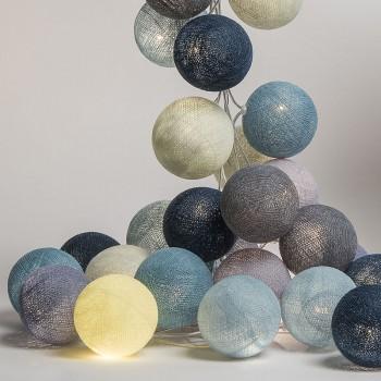 guirlande lumineuse l'original bleu gris, Sixty-two, allumée