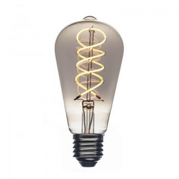 Ampoule LED Edison smocky dimmable allumée