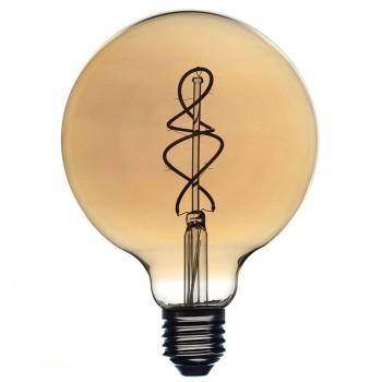 Ampoule Globe déco ambrée Ø125mm - Ampoules - La Case de Cousin Paul