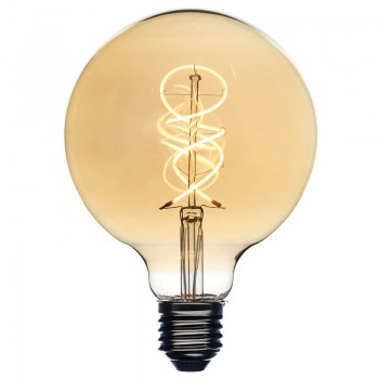 Amber LED globe bulb Ø 125 mm - Ampoules - La Case de Cousin Paul
