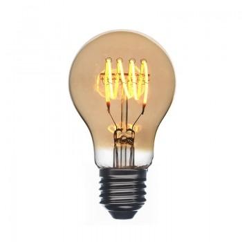 Ampoule LED Vintage ambrée allumée