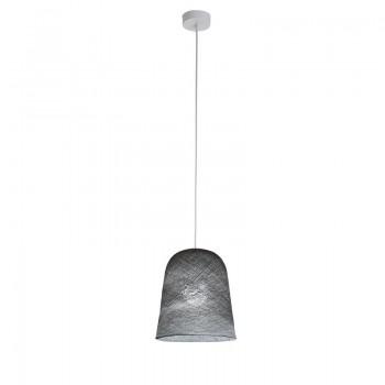 suspension simple, abat-jour Jupe graphite allumé