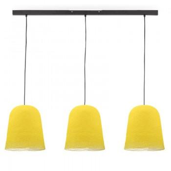 Rail gris anthracite 3 jupes jaune - Luminaire sur rail - La Case de Cousin Paul