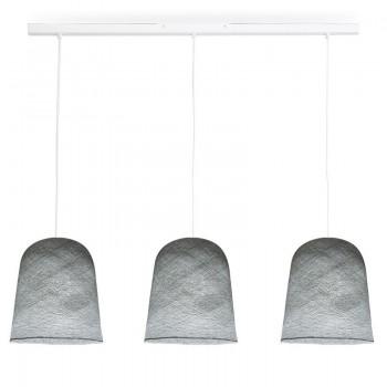 Rail blanc 3 jupes gris perle - Luminaire sur rail - La Case de Cousin Paul