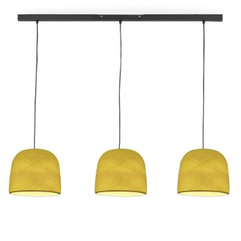 """Rail"" 3 yellow Cloche - The Island Pendant - La Case de Cousin Paul"