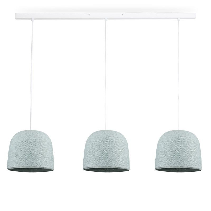 Rail wit 3 Cloche azuurblauw - The Island Pendant - La Case de Cousin Paul