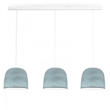 Rail blanco 3 Cloche azul - The Island Pendant - La Case de Cousin Paul