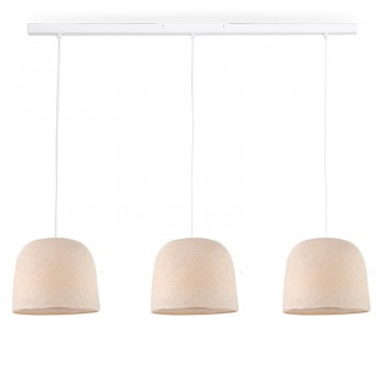 Rail blanco 3 Cloche crudo - The Island Pendant - La Case de Cousin Paul